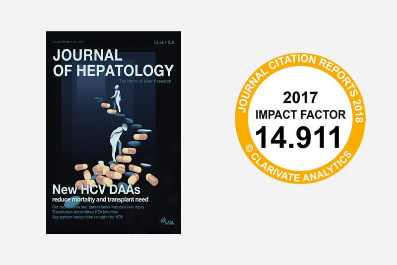 Journal Of Hepatology Cited Over 37,000 Times In 2017