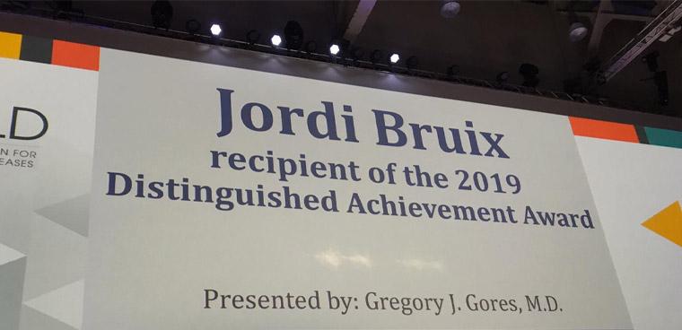Prof. Jordi Bruix Receives AASLD 2019 Achievement Award